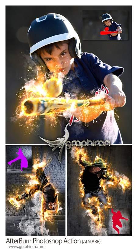اکشن فتوشاپ سوختن و آتش گرفتن