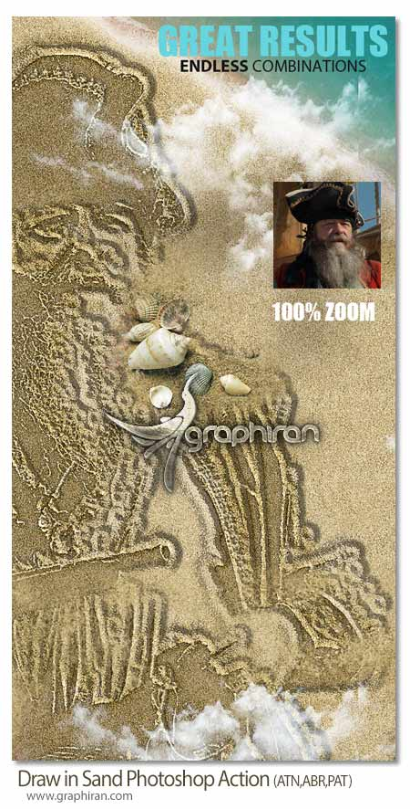 Draw in Sand Photoshop Action