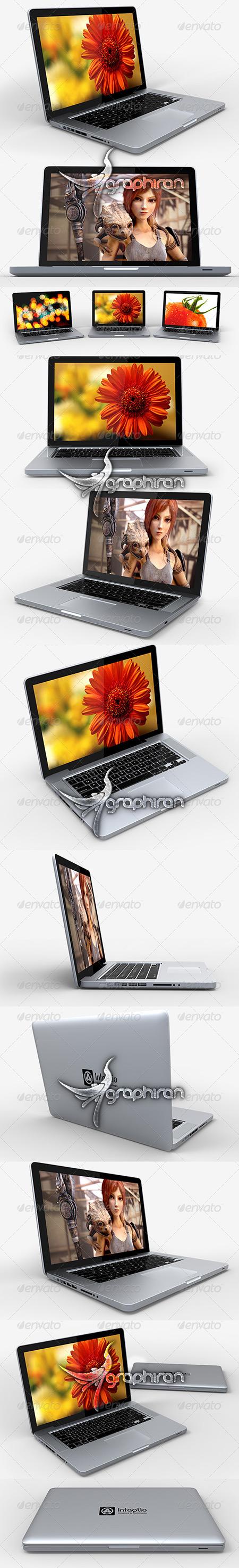 قالب لایه باز پیش نمایش لپ تاپ